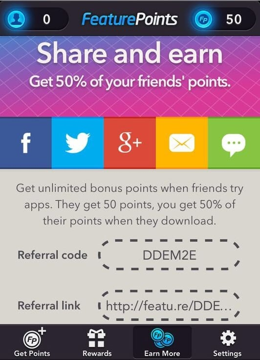Featurepoints referral