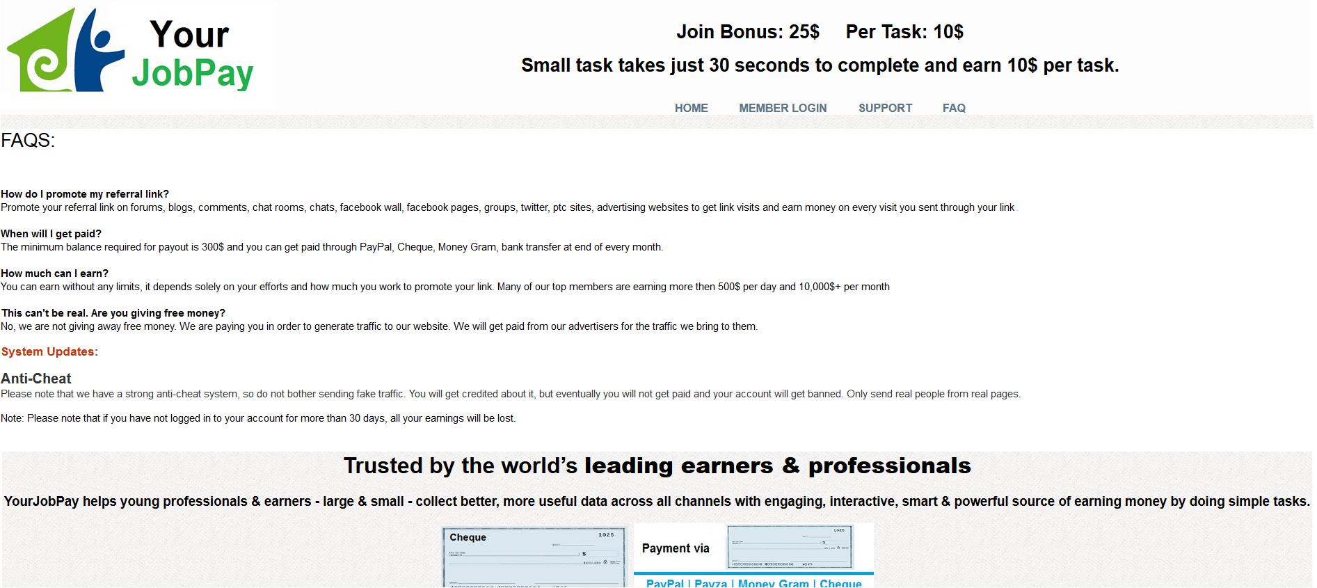 yourjobpay FAQ