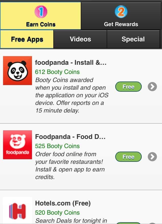 Main app page