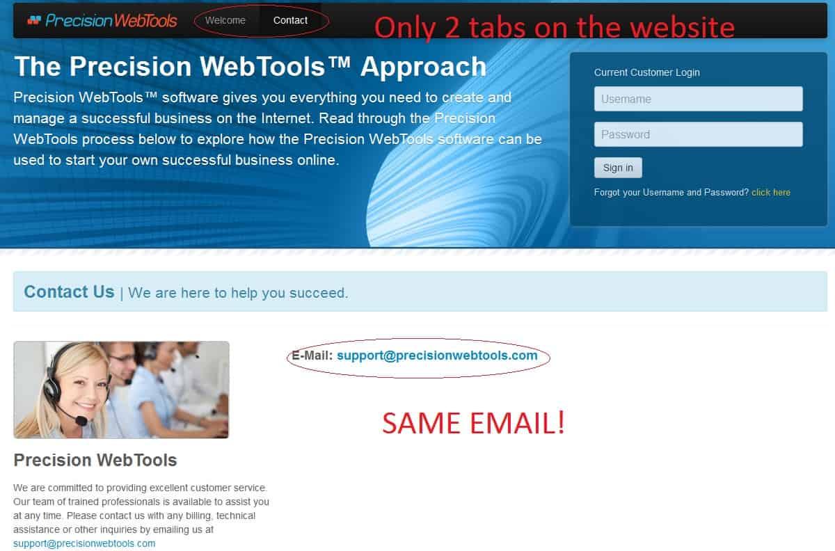 Precision Web Tool main website