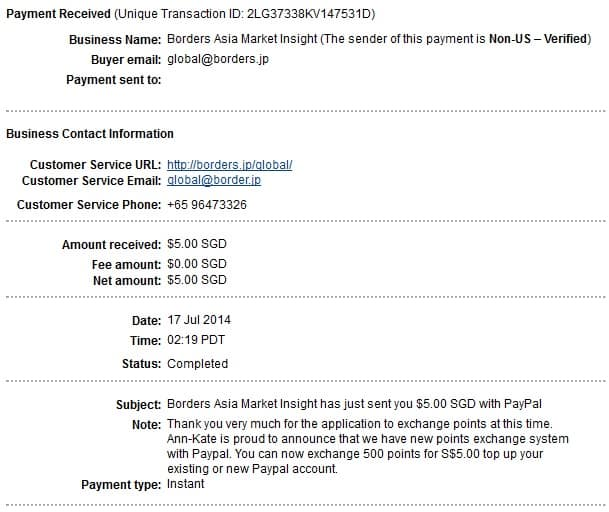 Ann and Kate payment proof