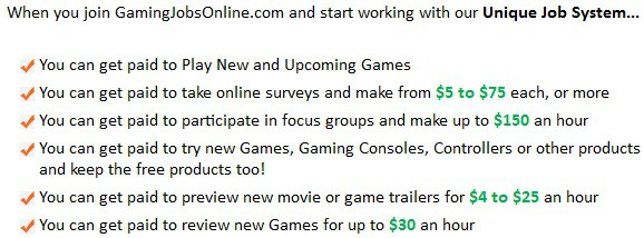 Gaming Jobs online earning potential