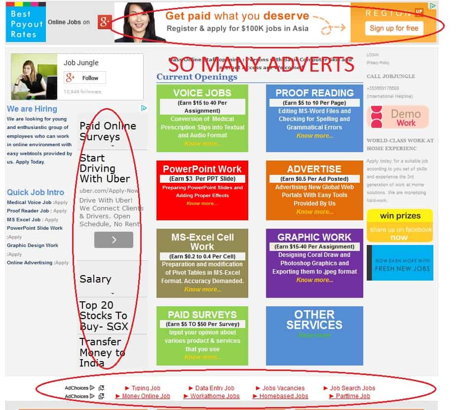 Jobjungle Full main page adverts