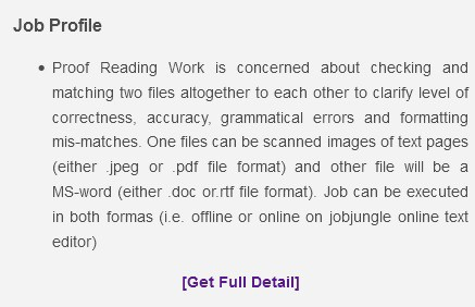 Jobjungle Proofreading 1