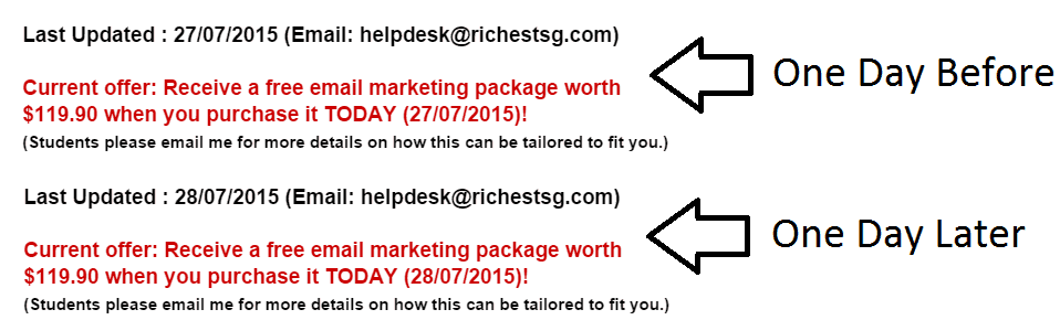 Richestsg Time guarantee