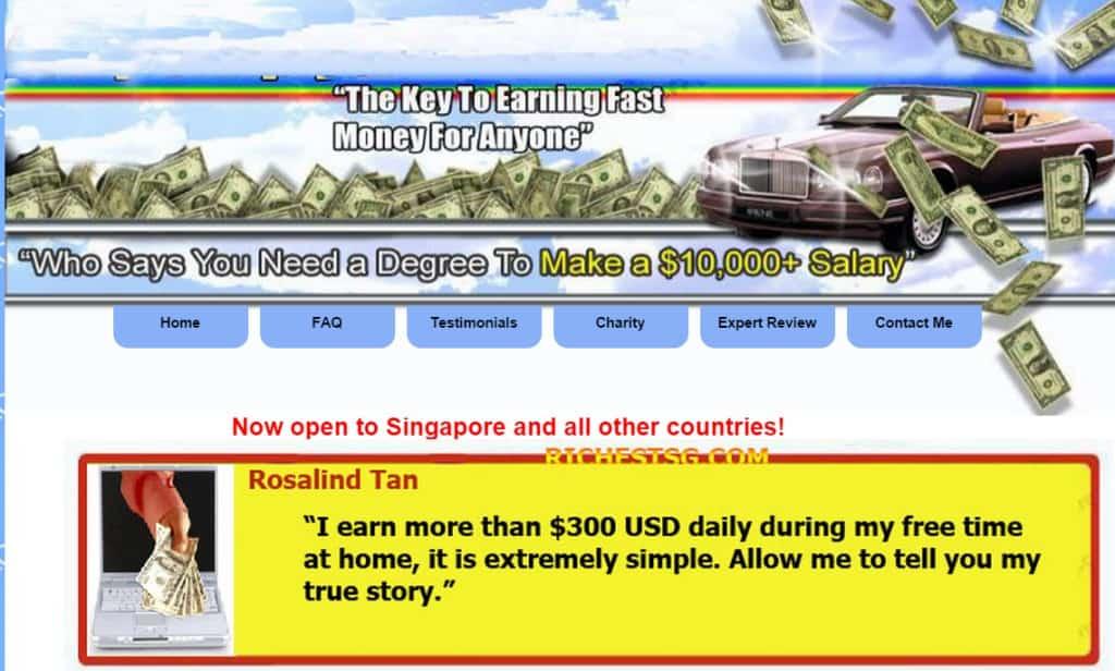 Richestsg main page