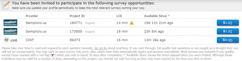 Clixsense survey