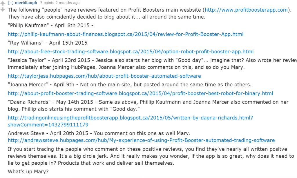 Profit Booster App Reddit 2