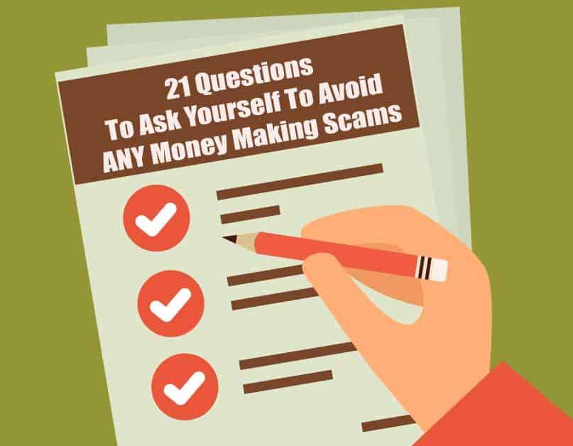Avoid Scams checklist