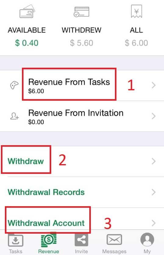 Trymyapp revenue screen