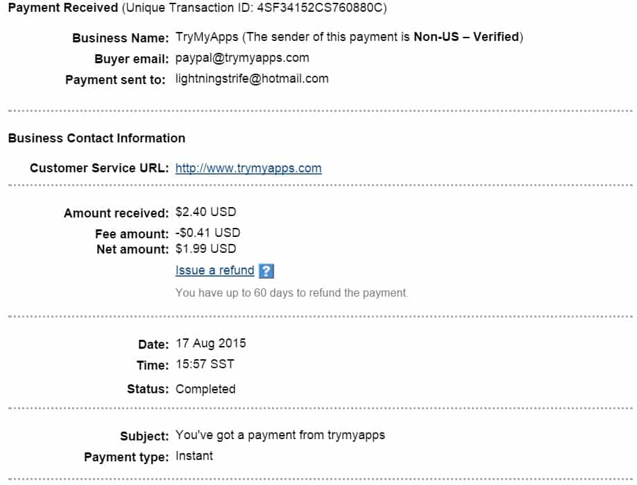 Trymyapps payment