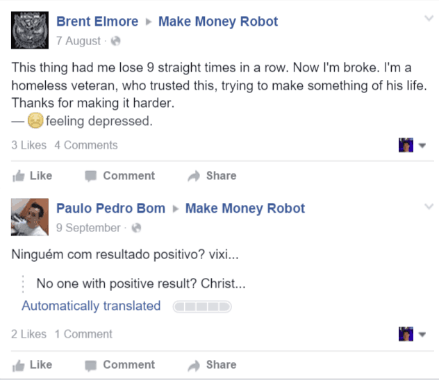 MakeMoneyRobot Facebook