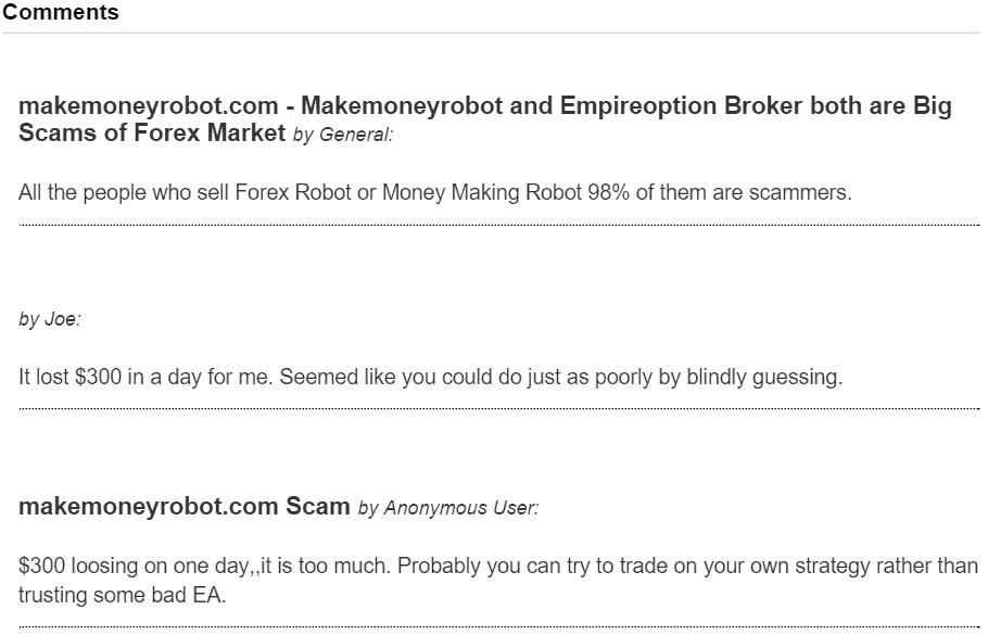 MakeMoneyRobot TradeComplaint 2