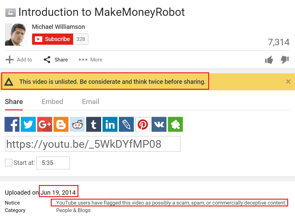 MakeMoneyRobot Youtube Description