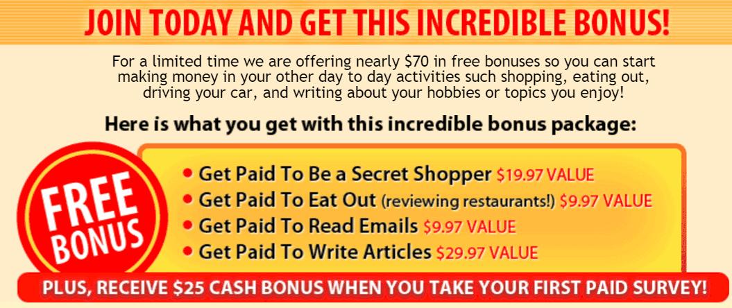 Surveys Paid Bonus