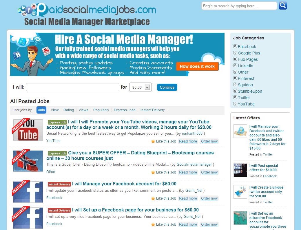 Inside Paid Social Media Jobs