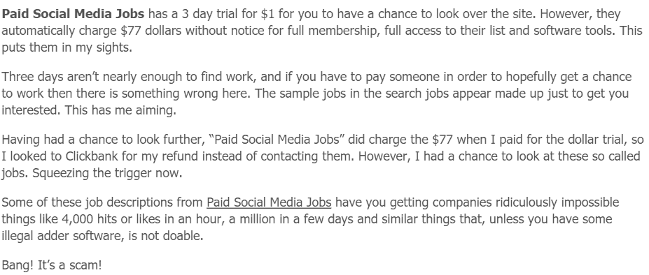Paid Social Media Jobs Scamxposer