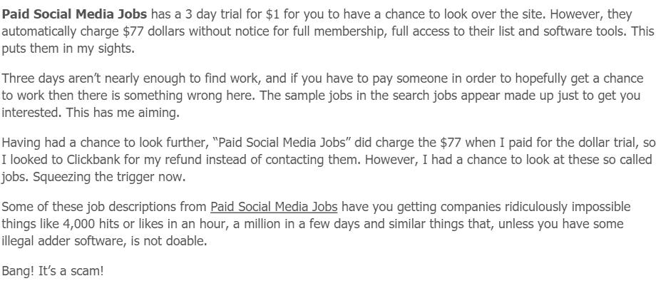 Paid Social Media Jobs Scamxposer