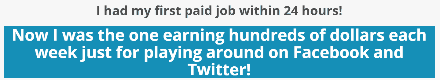 Paid Social Media Jobs within 24 hours