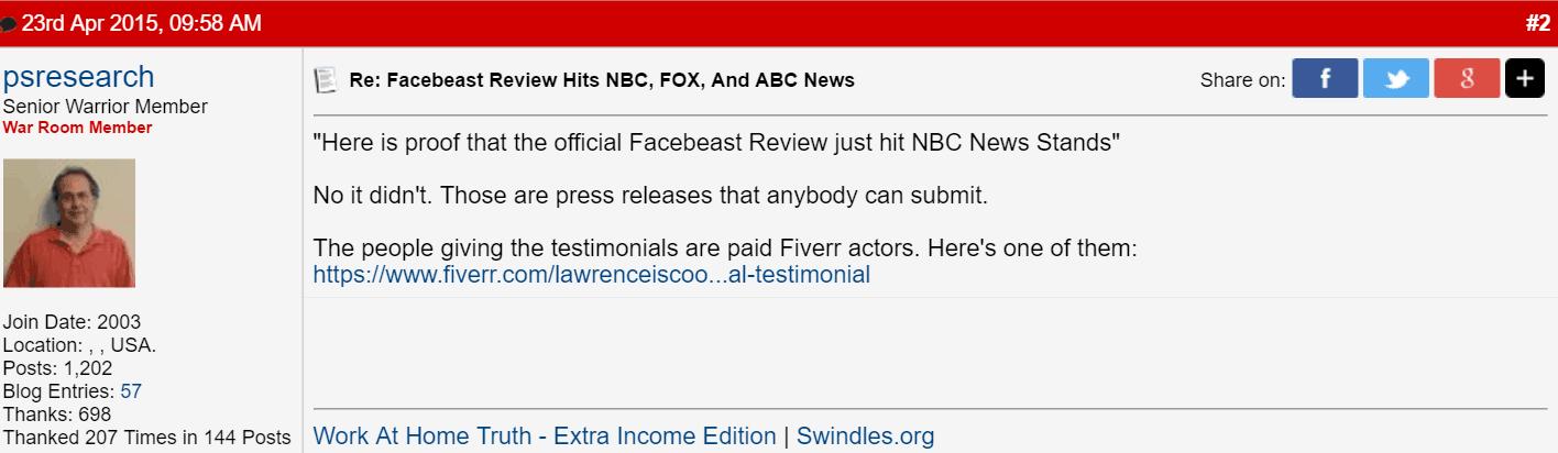 Facebeast Warrior Forum 2
