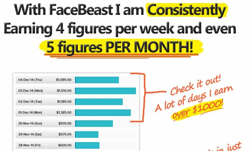 Facebeast income statement