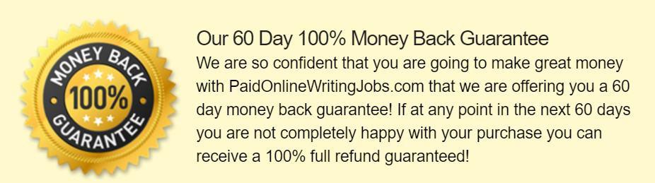 Paid Online Writing Jobs Guarantee