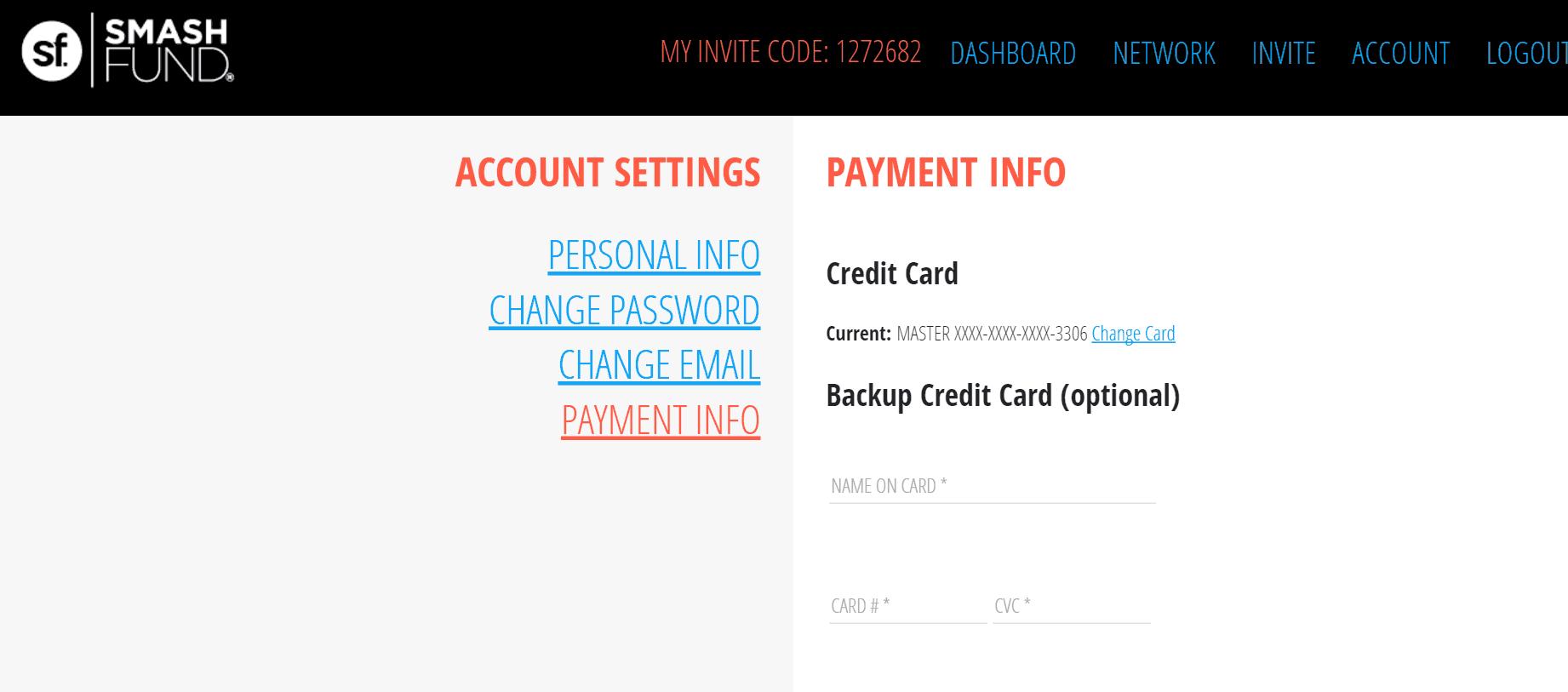 Smashfund Account
