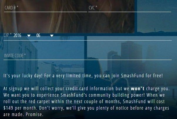 Smashfund CC details