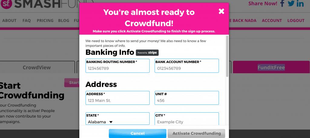 Smashfund FundItFree Payment