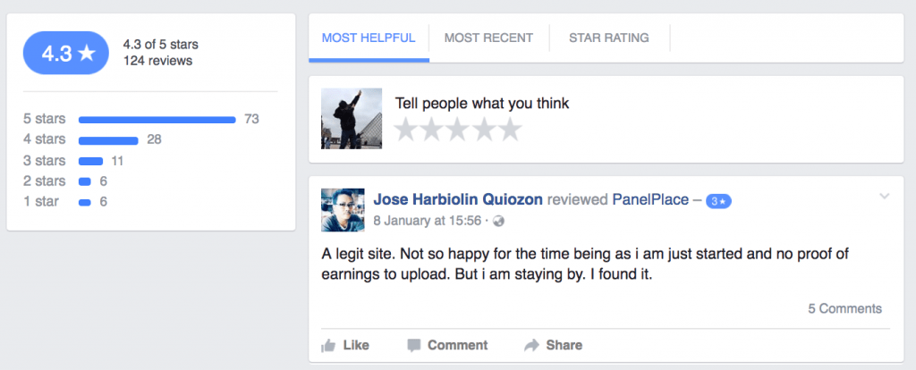 PanelPlace Facebook Reviews