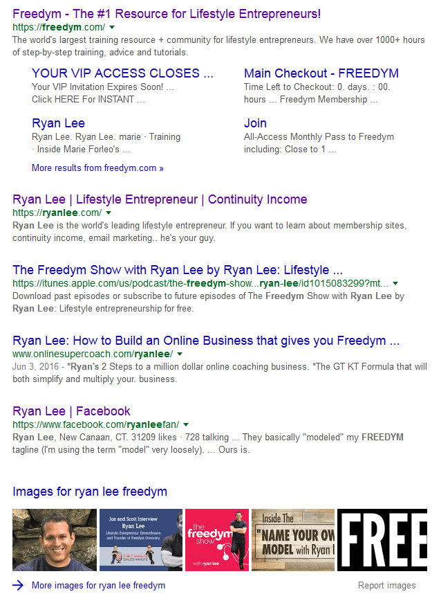 Ryan Lee Google Search