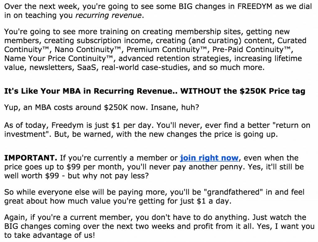 Freedym Email