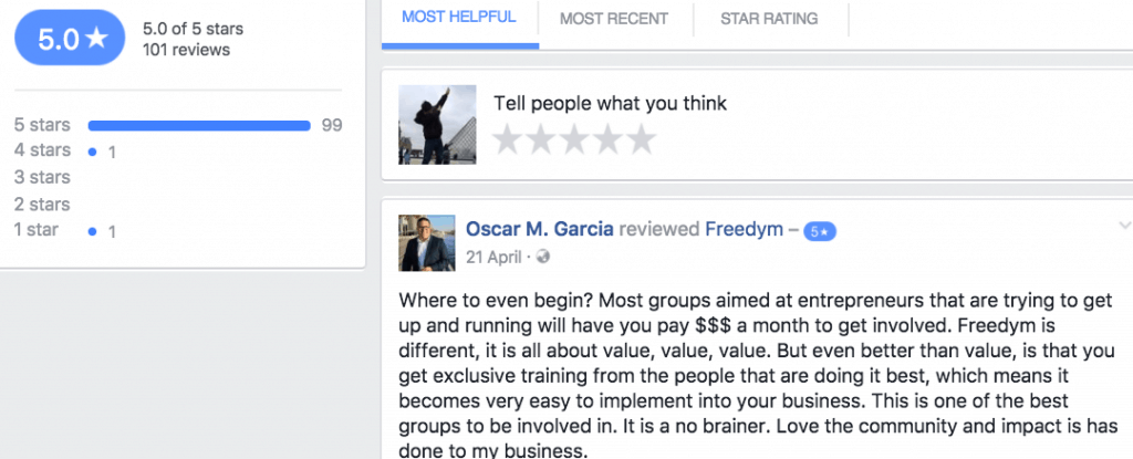 Freedym Facebook Star Review