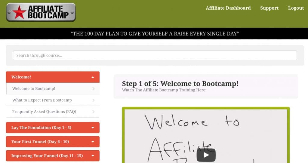 Affiliate Bootcamp Inside