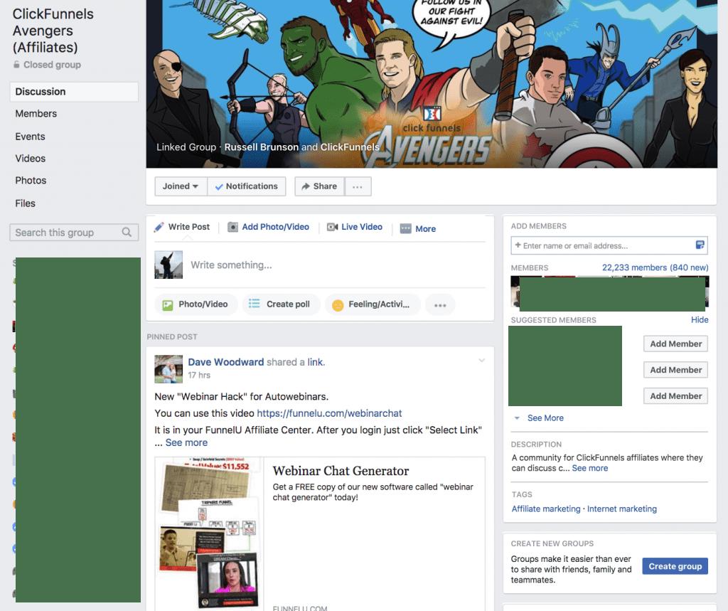 Clickfunnels Bootcamp Facebook Group