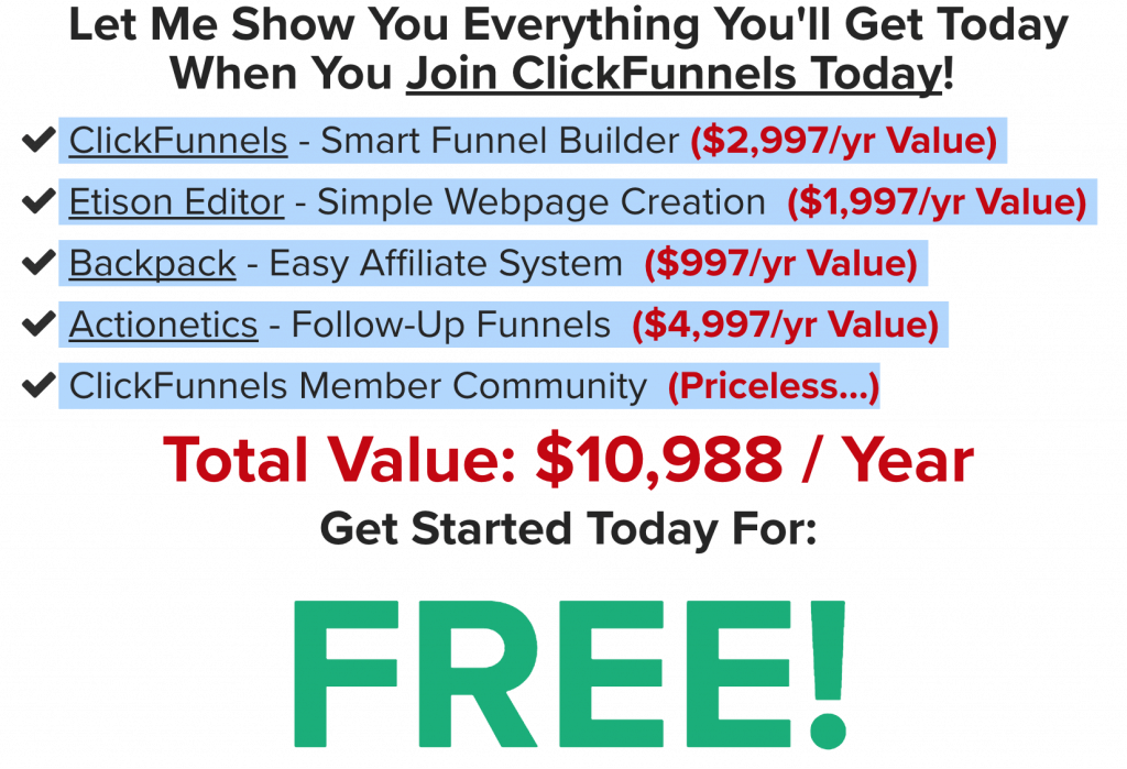 Clickfunnels Offer FREE