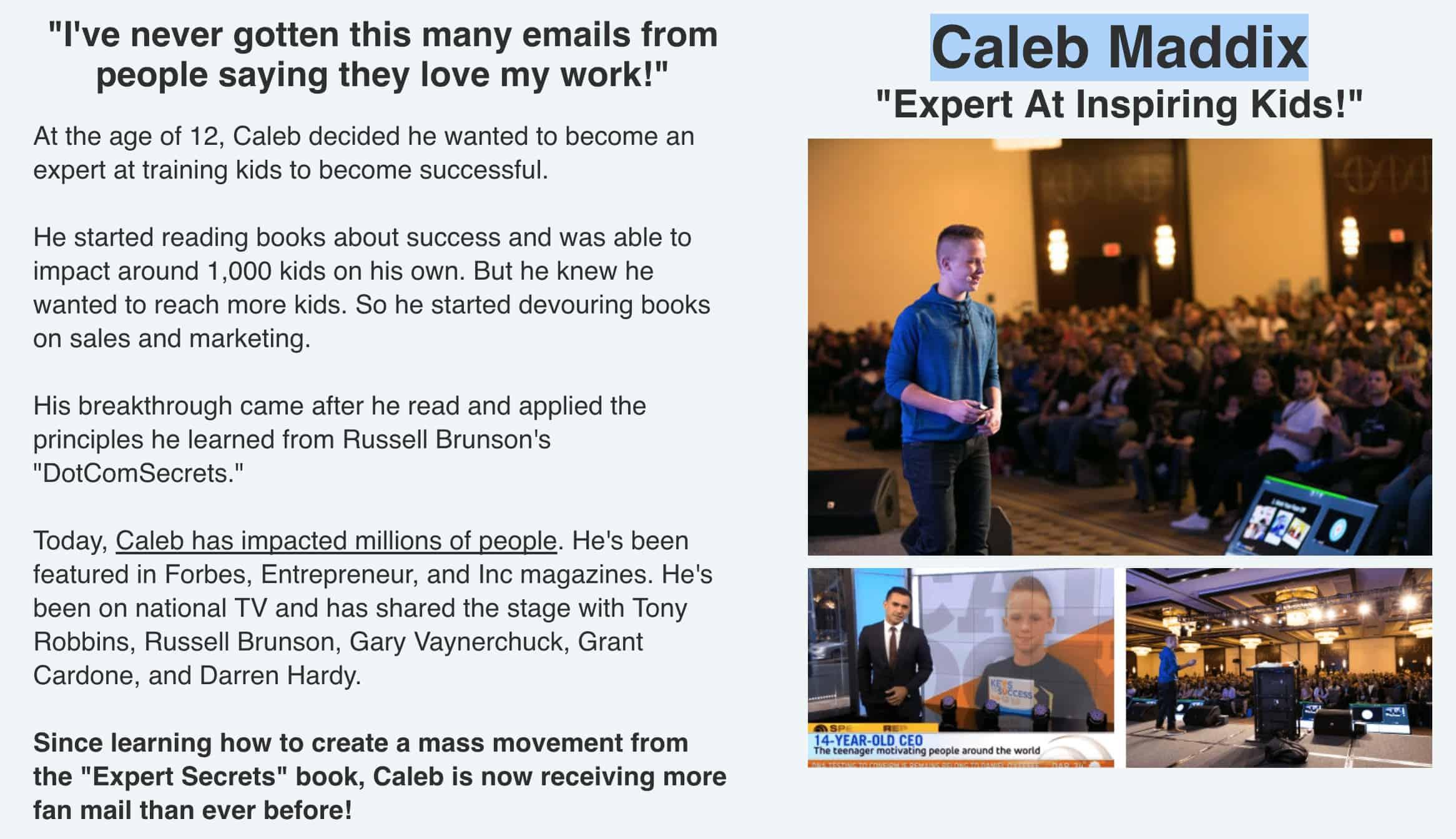 Expert Secrets Caleb Maddix