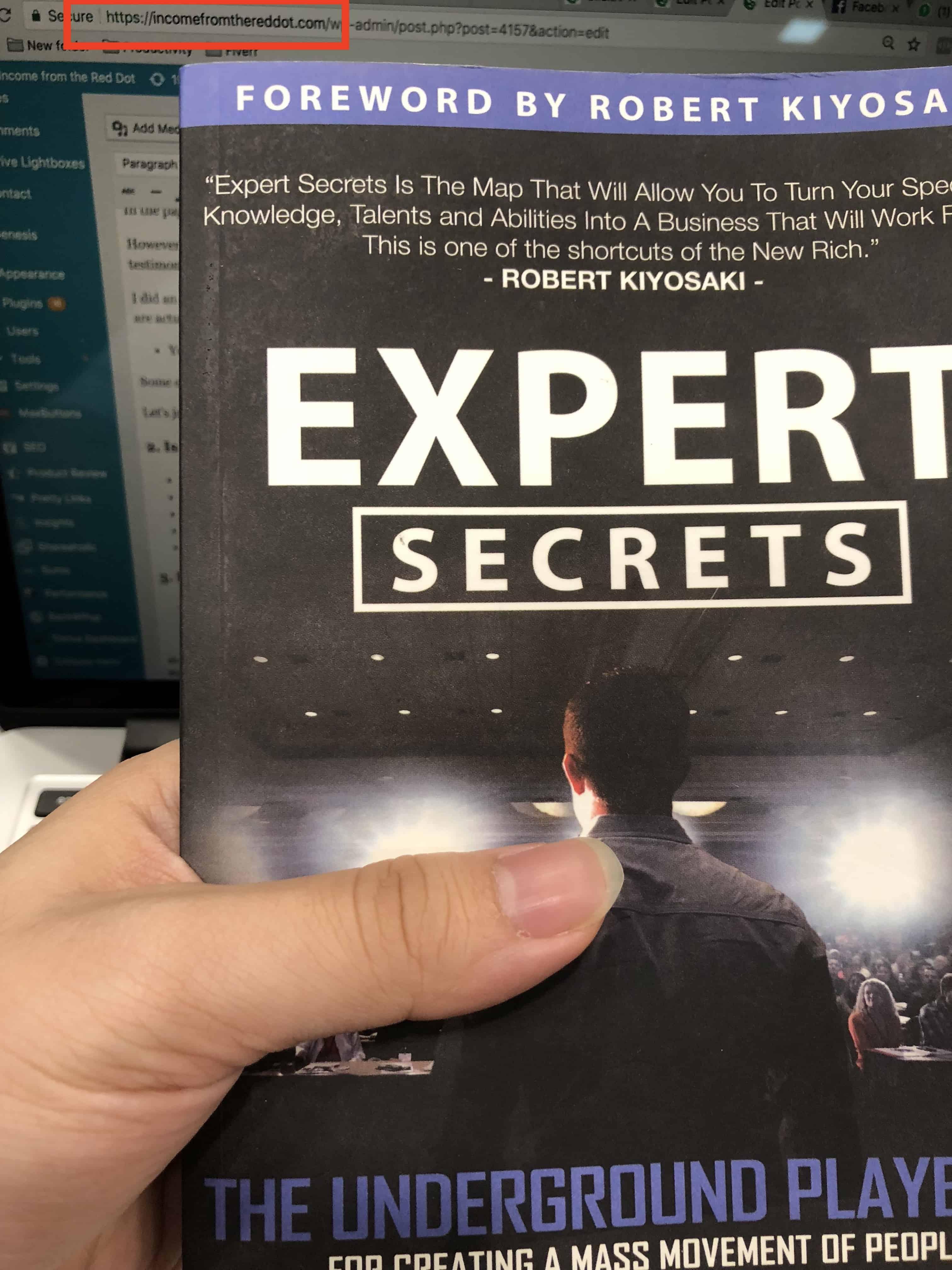 Expert Secrets Holding Book