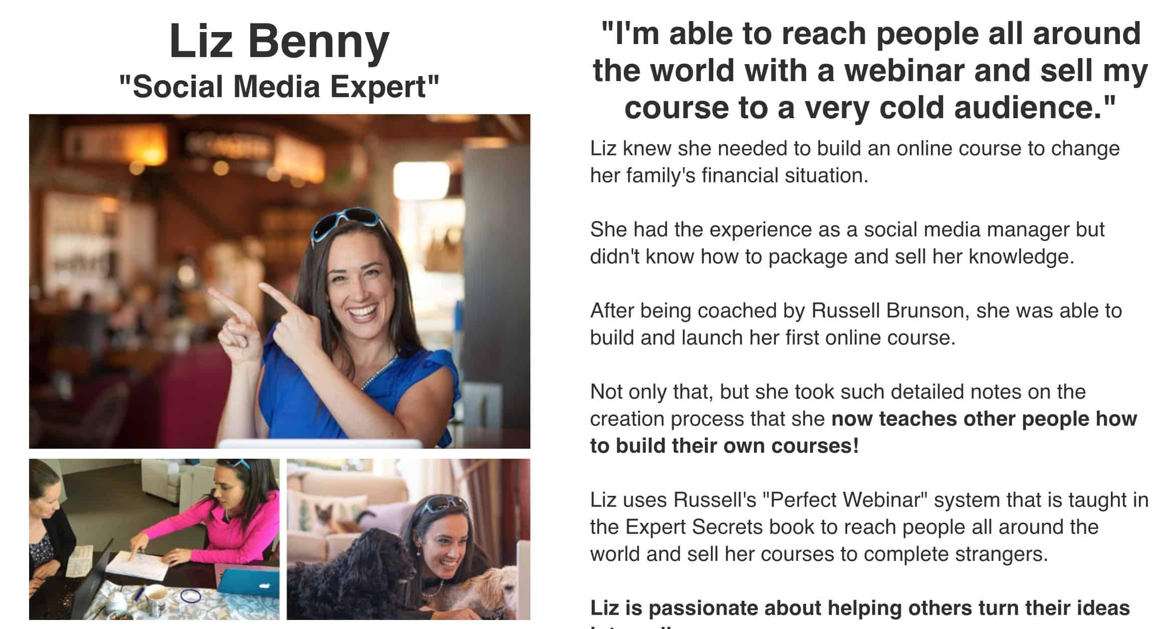 Expert Secrets Liz Benny