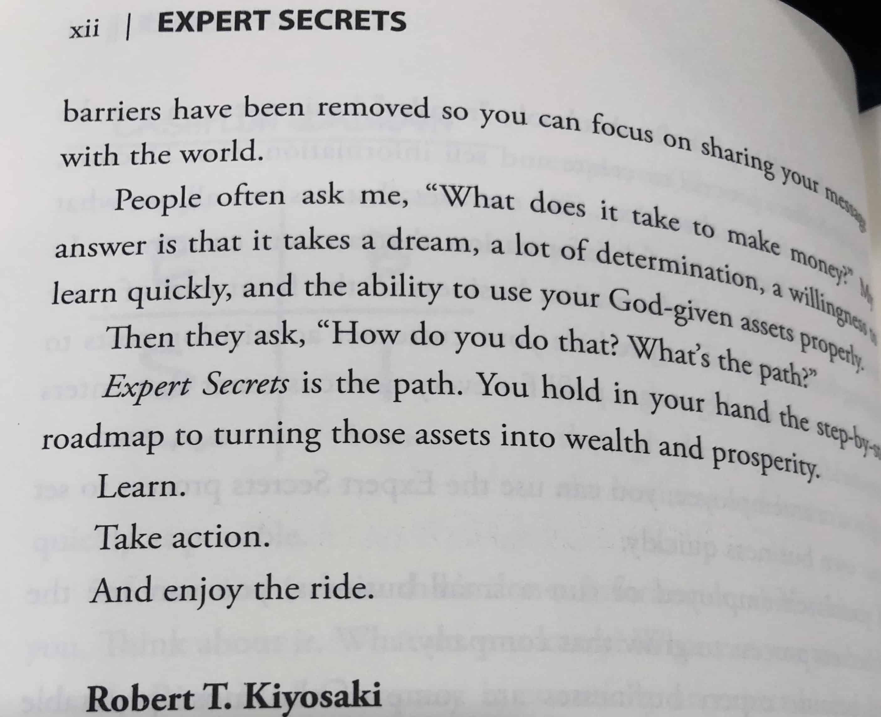 Expert Secrets Robert Kiyosaki