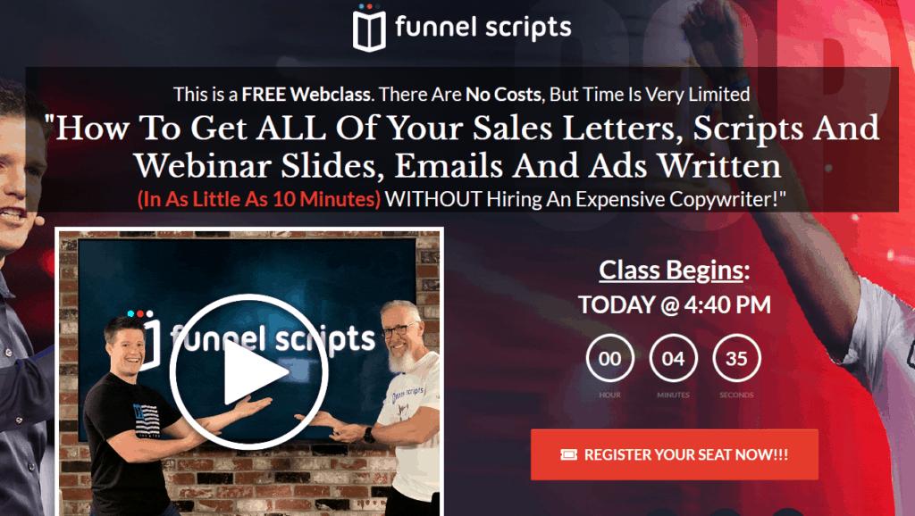 Funnel Scripts Landing Page